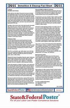 osha demolition and cleanup factsheet informs employees