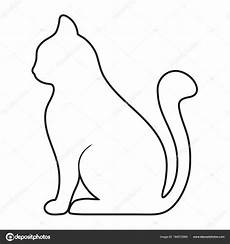 related image cat outline cat cats
