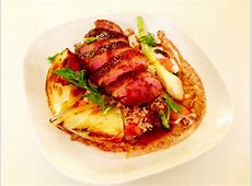 duck breast marinated in buttermilk   sage on brown rice stu_image