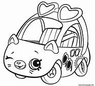 Shopkins Cutie Cars Sunny Sedan Coloring Pages Printable