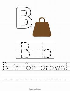 b is for brown worksheet twisty noodle
