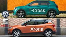 vw t cross vs seat arona comparison small suvs