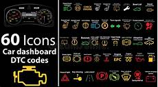 60 Pack Icons Car Dashboard Dtc Codes Error Message