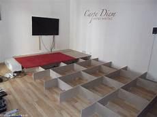 wohnzimmer podest selber bauen bauanleitung mit bildern