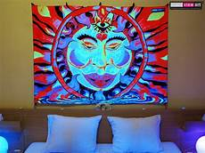 quot chillin sun quot uv blacklight fluorescent glow psychedelic visionary art backdrop wall hanging