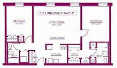 luxury two bedroom two bath house plans new home plans design