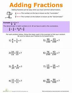 addition of fractions worksheets for grade 5 4227 fraction practice 5th grade worksheets education