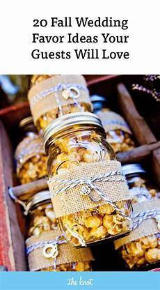35 delightful fall wedding favors guests will really use popcorn wedding favors creative