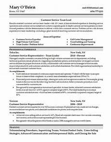 customer service skills resume team lead