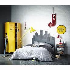tete de lit grise t 234 te de lit 140 grise skywalk maisons du monde