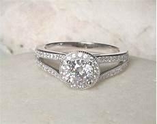 0 75 carat unique deco engagement ring simple ring halo