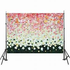 5x7ft Grass Flower Colorful Nature Vinyl by 3x5ft 5x7ft Vinyl Pink White Flower Green Grass
