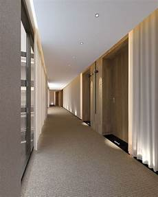 guest corridor with warm soft residential feeling and neutral color palate contemporary yet