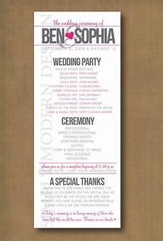 wedding program wedding ceremony order of events modern wedding program wedding ceremony order of events