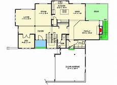 tri level house plans tri level craftsman house plan with playroom and rec room