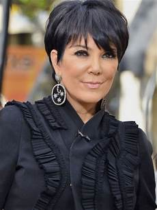 hairstyles kris jenner simple short hair style this style is using thinning scissor for cut