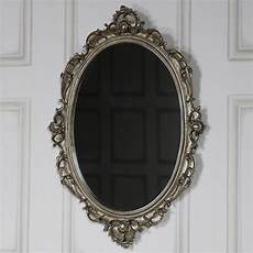 ornate antique silver wall mirror melody maison 174