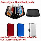 Aluminium Metal RFID Wallet Case Contactless Protection