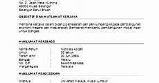contoh resume memohon kerja dalam bahasa melayu is sam