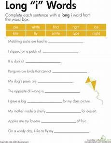 sentence patterns worksheets for grade 3 412 quot i quot sound spelling worksheets i words 2nd grade spelling words