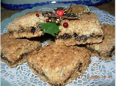 christmas mincemeat and oat squares slices_image