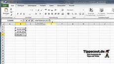 excel datum subtrahieren und berechnen tutorial