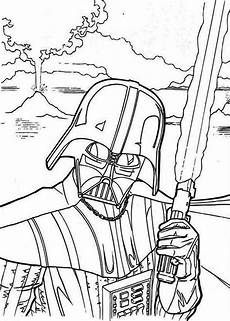 the evil darth vader in wars coloring page
