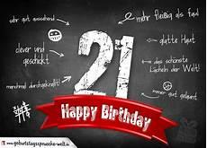 Komplimente Geburtstagskarte Zum 21 Geburtstag Happy