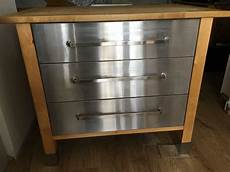 Kitchen Drawers Stainless Steel by Freestanding Kitchen Drawer Unit Solid Wood Top Stainless