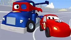carl der transformer truck und das rennauto in car city