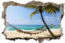 Malvorlagen Meer Und Strand Urlaub Strand H 228 Ngematte Meer Palmen Wandtattoo Wandsticker