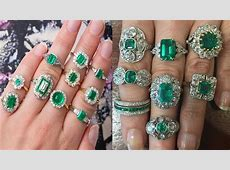 Fashionable Emerald Finger Ring Designs 2018   YouTube