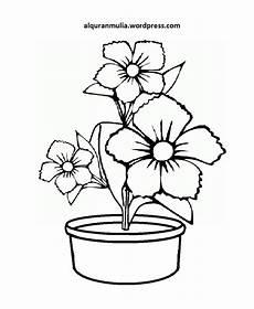 Mewarnai Gambar Bunga Anak Muslim 4 Alqur Anmulia