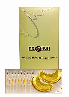 pronu anti aging 24k gold collagen eye mask of 10 buy online in uae misc products
