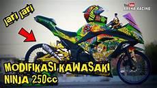Modifikasi 4 Tak Terkeren by Modifikasi Kawasaki 250cc 4 Tak Jari
