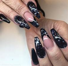 30 incredible acrylic black nail art designs ideas for