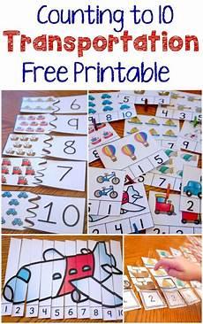 transportation math worksheets preschool 15212 free transportation themed printable for counting to 10 mate transporte preescolar