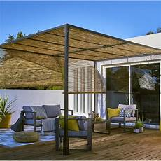 que mettre sur le toit d une pergola pergola autoportante sans couverture acier 12 m 178