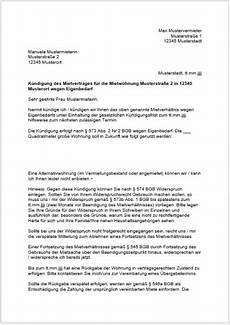 Kündigung Wohnung Eigenbedarf by Mieter K 252 Ndigen K 252 Ndigungsfrist