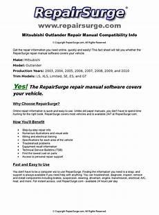 online car repair manuals free 2005 mitsubishi outlander user handbook mitsubishi outlander online repair manual for 2003 2004 2005 2006 2007 2008 2009 and 2010