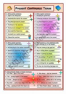 grammar worksheets present continuous tense 24932 present continuous tense esl worksheet by tmk939