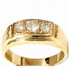 mens 3 4ct three stone diamond wedding anniversary ring