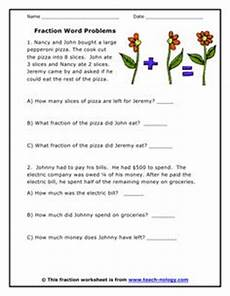 fraction word problems fractions decimals percent