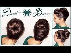chignon donut et banane pour d 233 butantes cheveux courts