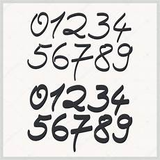 number font styles handwritten numbers in two font