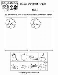 phonics worksheet for kids free kindergarten english