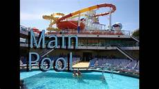 carnival cruise breeze main pool 8 days southern caribbean youtube