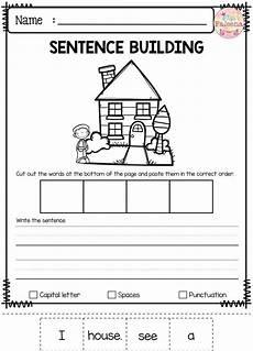 free sentence building sentence building kindergarten