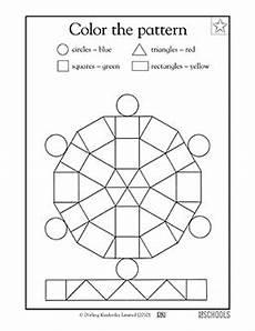 shapes patterns worksheets 1233 kindergarten preschool math worksheets color the pattern math classroom kindergarten math