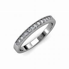 diamond 13 stone wedding band with milgrain work 0 39 ct